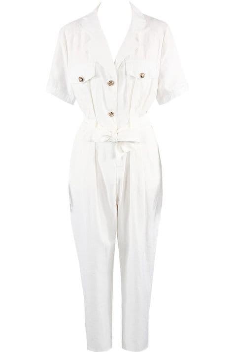 Celine White  Boiler Suit