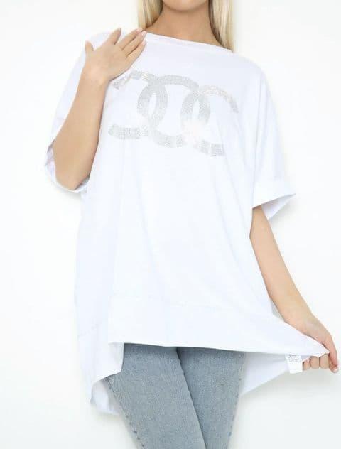Designer Inspired Diamante Coco T-Shirt