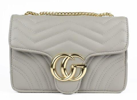 Gessy Designer Inspired Cross Body Handbag Grey