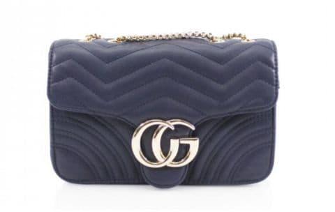 Gessy Designer Inspired Cross Body Handbag Navy
