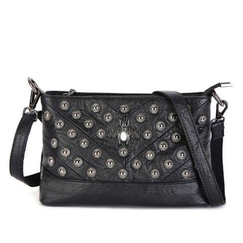 Hetty Pearl Bee Bag Black