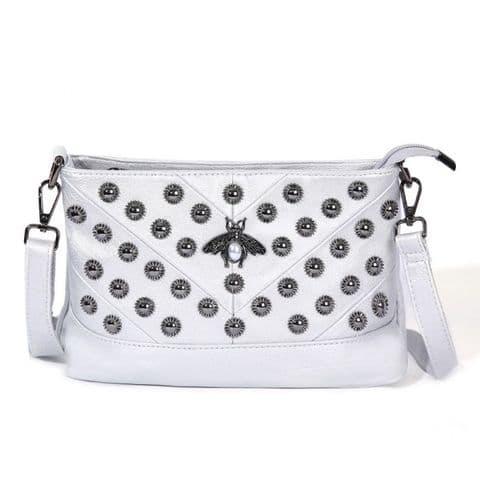 Hetty Pearl Bee Bag Silver