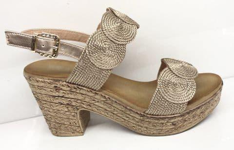 Serena Champagne Sandal Shoes