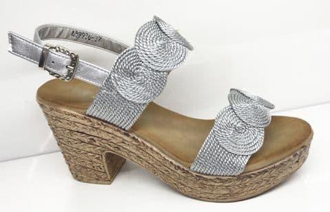 Serena Metallic Silver Sandals
