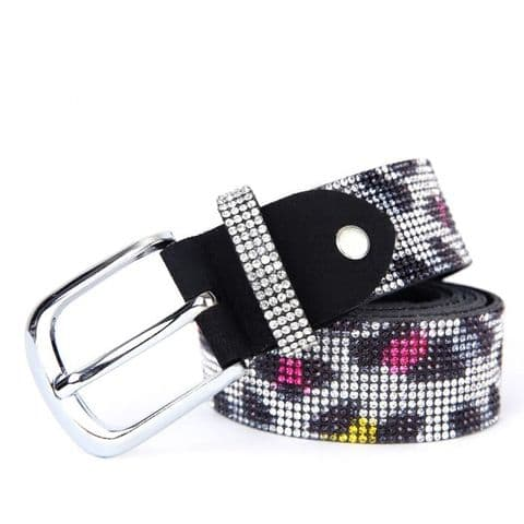 Zukki Multicoloured Diamante Belt