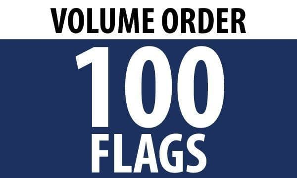 100 x 5'x3' Country Flags