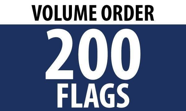 200 x 5'x3' Country Flags