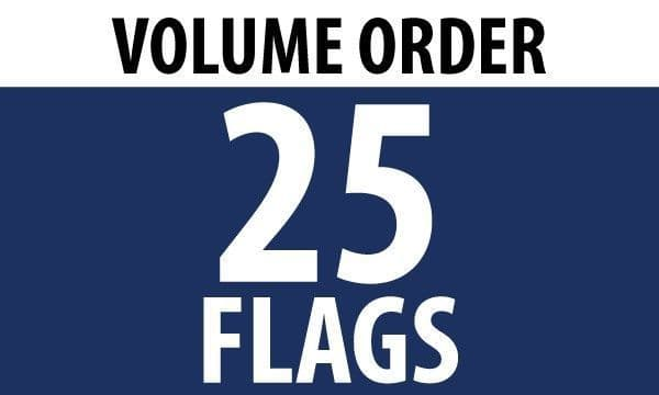 25 x 5'x3' Country Flags