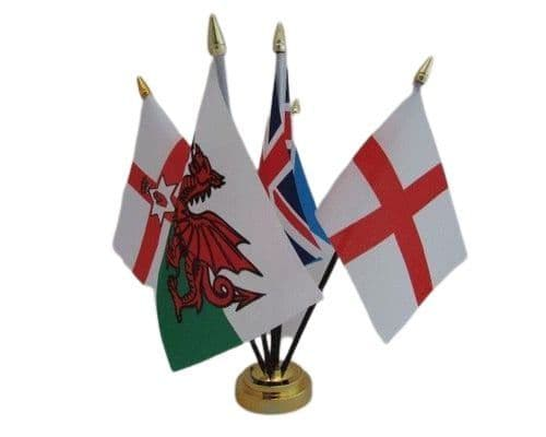 5 UK Countries Friendship Table Flag