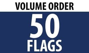 50 x 5'x3' Country Flags