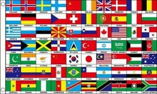 70 Nations of the World Flag
