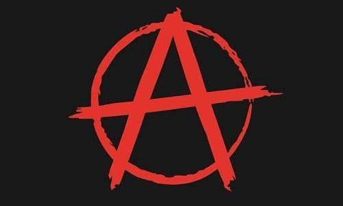 Anarchy Red 5ft x 3ft Flag