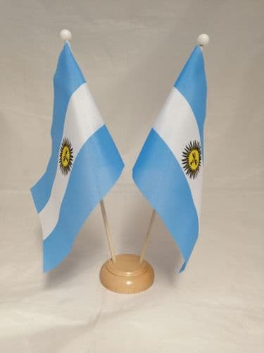 Argentina Double Wooden Table Flag