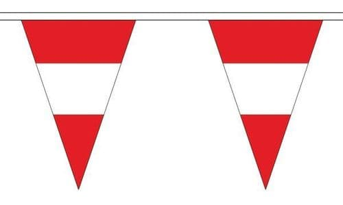 Austria Triangle Bunting (5m) - 12 Flags