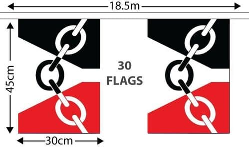 Black Country GIANT Bunting (18.25m)