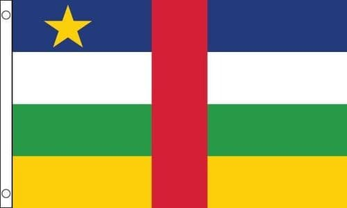 Central African Republic VALUE Flag - 3ft x 2ft