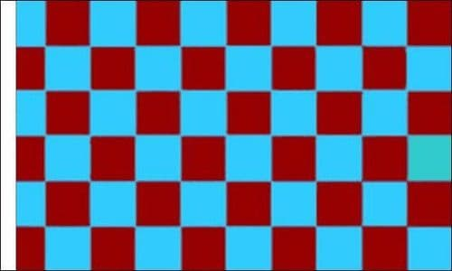 Checkered 5ft x 3ft Claret and Blue (sleeved) Flag