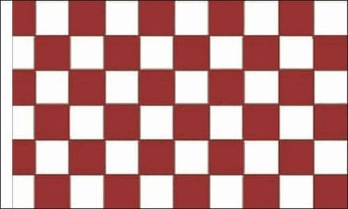 Checkered 5ft x 3ft Maroon and White (Sleeved) Flag