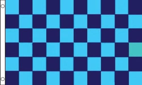 Checkered 5ft x 3ft Navy Blue and Sky Blue Flag