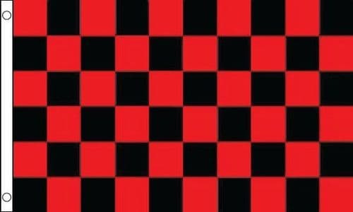 Checkered 5ft x 3ft Red and Black Flag