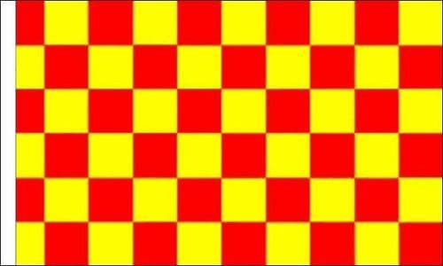 Checkered 5ft x 3ft Red and Yellow (sleeved) Flag