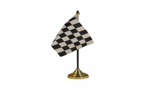 Checkered Table Flag Black and White
