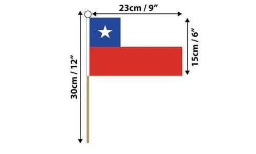 Chile Hand Flag