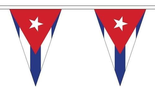 Cuba Triangle Bunting (20m) - 54 Flags