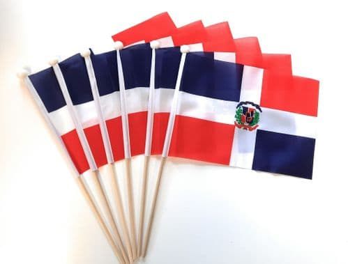 Dominican Republic Hand Flag - 6 Pack