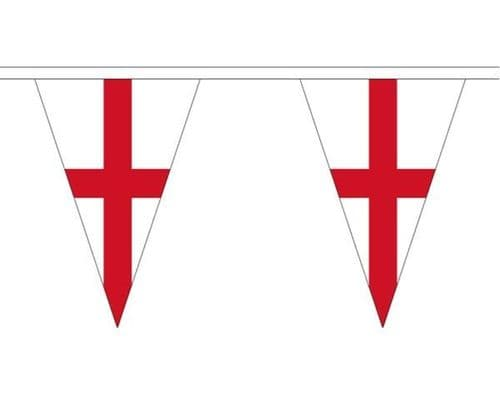 England Triangle Bunting (20m) - 54 Flags