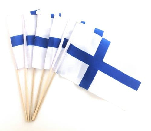 Finland Hand Flag - 6 Pack
