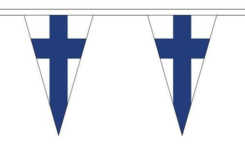 Finland Triangle Bunting (20m) - 54 Flags