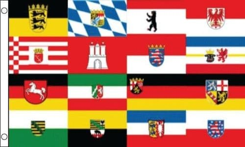 German 16 Federal States 5ft x 3ft Flag