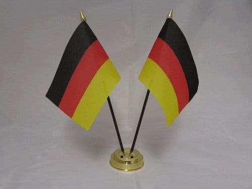 Germany Double Table Flag