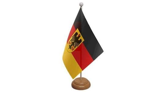 Germany State Wooden Table Flag