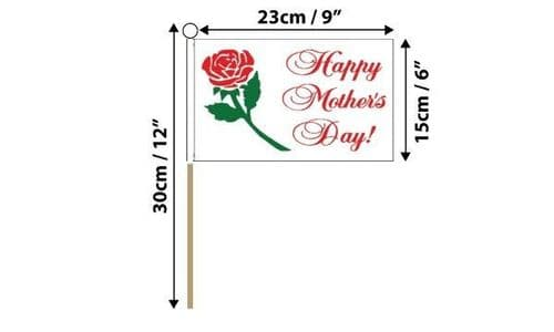 Happy Mothers Day Hand Flag