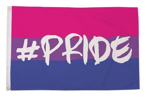 Hashtag Pride (Bisexual) 5ft x 3ft Flag