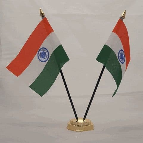 India Double Table Flag