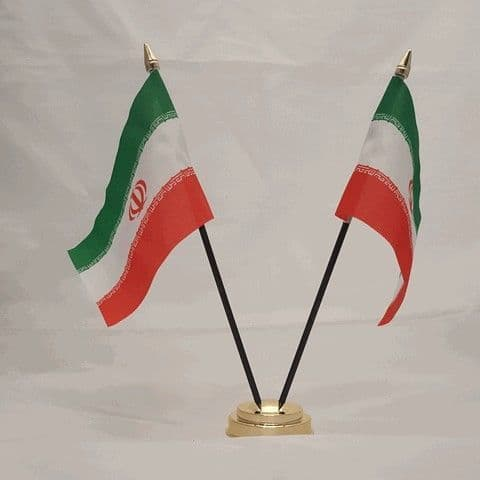 Iran Double Table Flag