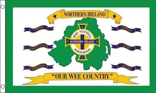 Ireland Our Wee Country 5ft x 3ft Flag