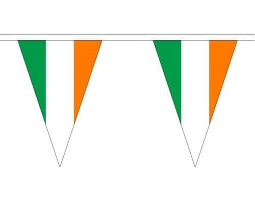 Ireland Triangle Bunting (20m) - 54 Flags