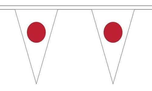 Japan Triangle Bunting (20m) - 54 Flags