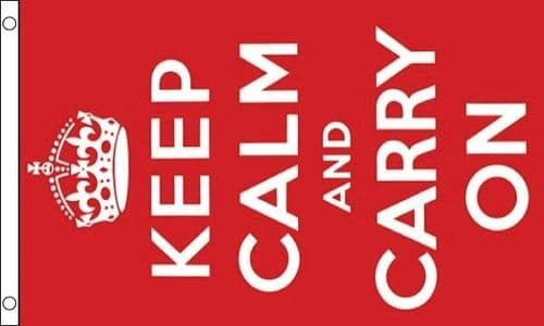 Keep Calm and Carry On 5ft x 3ft Flag