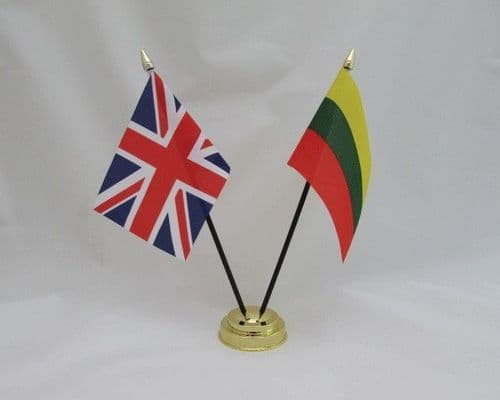 Lithuania with UK Friendship Table Flag