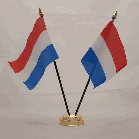 Netherlands Double Table Flag