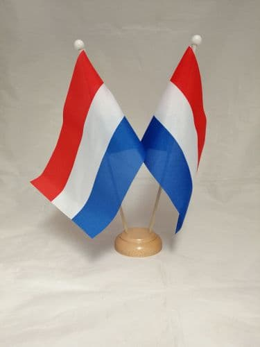 Netherlands Double Wooden Table Flag