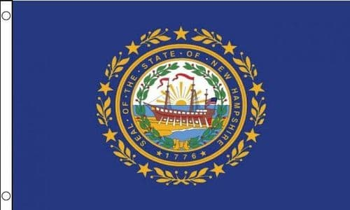 New Hampshire State 5ft x 3ft Flag