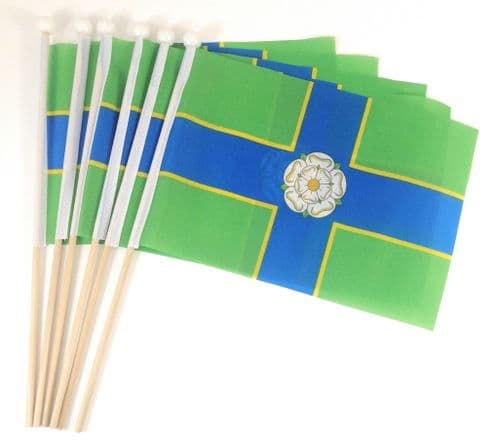 North Riding of Yorkshire Hand Flag - 6 Pack