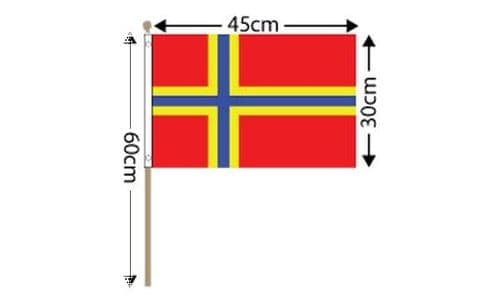 """Orkney Large Hand Flag (18"""" x 12"""")"""