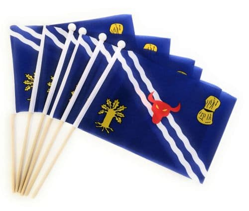Oxfordshire Hand Flag - 6 Pack